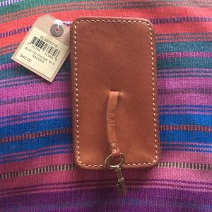 Fossil Austin Cognac Brown iPhone Sleeve Holder
